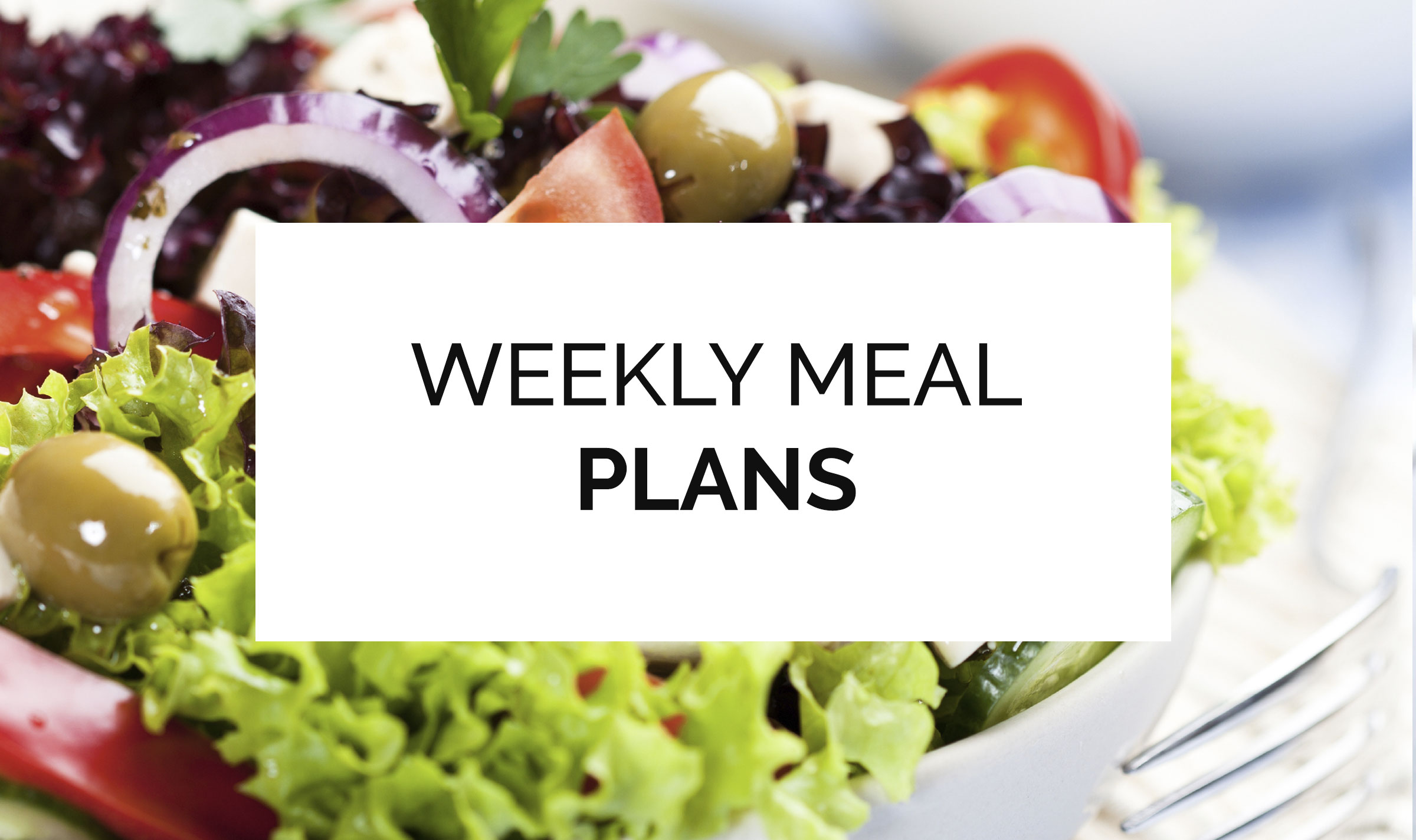 image showing meal plan heading