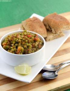 Big moong sprouts Pav Bhaji
