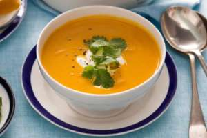 Moroccan Carrot and Coriander Soup