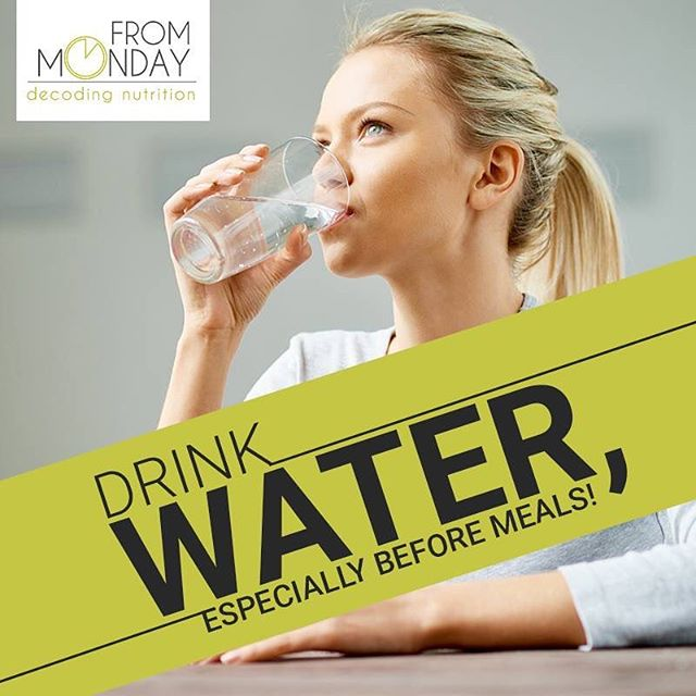 Importance of Drinking water before meals