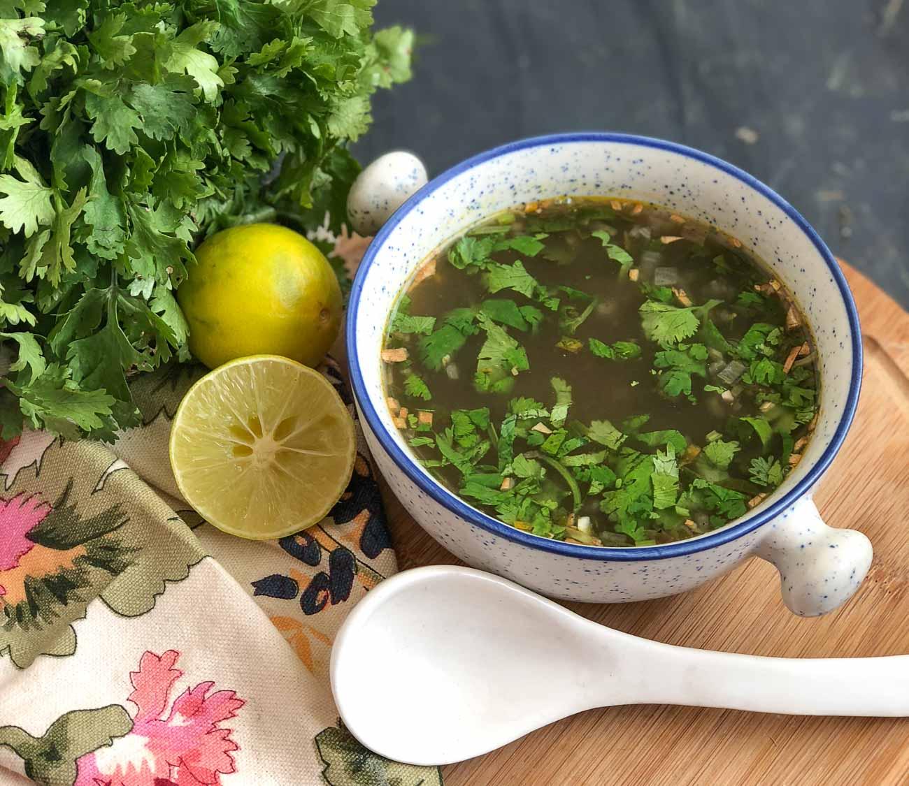 Lemon Coriander Soup Frommonday