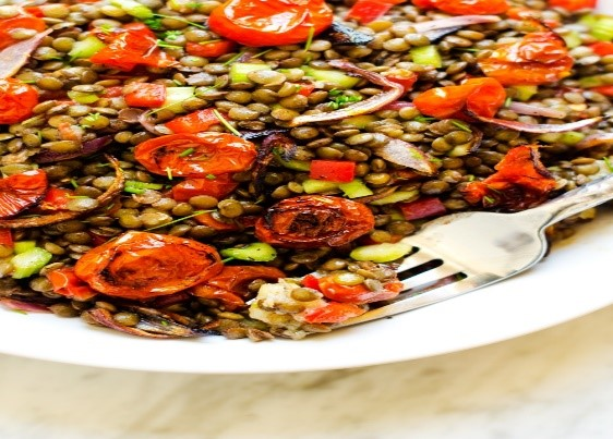 Lentil Tomato Salad Frommonday